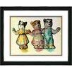 """Studio Works Modern """"Cat Family"""" Framed Art"""