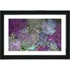 "Studio Works Modern ""Purple Scented Bloom"" by Zhee Singer Framed Fine Art Giclee Painting Print"