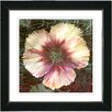 """Studio Works Modern """"Peach Floral Flair"""" by Zhee Singer Framed Fine Art Giclee Painting Print"""