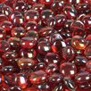 Wholesalers USA 5 lbs of  Glass Gems in Orange Red