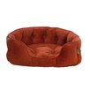One For Pets Faux Suede Snuggle Bolster Dog Bed