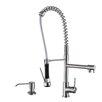 Ruvati Alori Single Handle Kitchen Faucet with Pre-Rinse Spray and Soap Dispenser