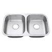"Ruvati Parmi 32.25 x 18.5"" Double Bowl Kitchen Sink"