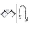 """Ruvati 43.75"""" x 23"""" Kitchen Sink with Faucet"""