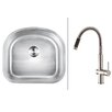 """Ruvati 23.25"""" x 21"""" Kitchen Sink with Faucet"""