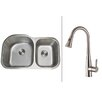 """Ruvati 34"""" x 18.75"""" Kitchen Sink with Faucet"""