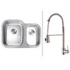 """Ruvati 29.5"""" x 21"""" Kitchen Sink with Faucet"""