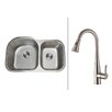 "Ruvati 31.5""  x 20.75"" Kitchen Sink with Faucet"