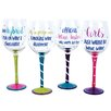 DEI The Vineyard 4 Piece 18 oz. Wine Glass Set