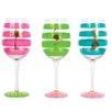 DEI Tropical Fantasy 3 Piece 18 oz. Wine Glass Set