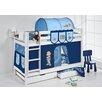 Lilokids Etagenbett Jelle Bob der Baumeister mit Vorhang und 2 Lattenrosten, 90 x 190 cm