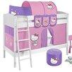 Lilokids Etagenbett Ida mit Hello Kitty Vorhang, 90 x 200 cm