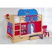 Lilokids Etagenbett Jelle Spiderman mit Vorhang und 2 Lattenrosten, 90 x 200 cm