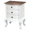 DUSX Eden 3 Drawer Bedside Table