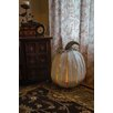 XL White Pumpkin Luminary - Desert Steel Garden Statues and Outdoor Accents