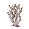 Prickly Pear Cactus Garden Art - Size: 48 inch High x 36 inch Wide x 12 inch Deep - Desert Steel Garden Statues and Outdoor Accents