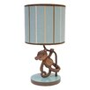 "Lambs & Ivy Giggles 11"" H Table Lamp with Drum Shade"