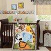 Lambs & Ivy Jungle Buddies 3 Piece Crib Bedding Set