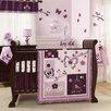 Lambs & Ivy Plumberry 5 Piece Crib Bedding Set