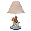 "Lambs & Ivy Giddy Up 11.25"" H Table Lamp with Empire Shade"