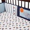 Lambs & Ivy Future All Star 4 Piece Crib Bumper Set