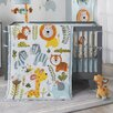 Lambs & Ivy Dena Happi Jungle 4 Piece Crib Bedding Set
