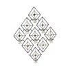 Elements Diamond Gem 7 Tea Light Sconce
