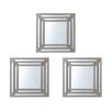 Elements Triple Square Wall Mirrors (Set of 3)
