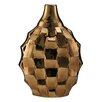 Elements Metallic Rippled Vase