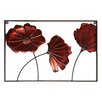 Elements Poppies Metal Wall Panel