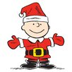 Marmont Hill Peanuts Charlie Brown Santa Canvas Art
