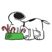 Marmont Hill Peanuts Snoopy Eating Candy Canes by Charles M. Schulz Painting Print on Wrapped Canvas