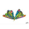 Marmont Hill 'The Very Hungry Caterpillar Character Butterfly 1' by Eric Carle Painting Print on Wrapped Canvas