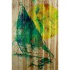 Marmont Hill Sail Away Graphic Art on Wood Planks in Natural