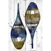 Marmont Hill Snow Shoes Graphic Art on Wood Planks in White