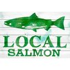 """Marmont Hill """"Local Salmon"""" Painting Print on White Wood"""