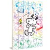Marmont Hill Snoopy Colorful Art Print on White Pine Wood