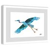Marmont Hill Flying High Blue Heron Framed Painting Print
