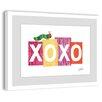 Marmont Hill Caterpillar XOXO 2 Framed Art Print