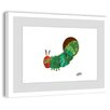 Marmont Hill Caterpillar Hiding Framed Art Print