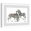 Marmont Hill Zebras 2 Framed Art Print