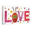 Marmont Hill Caterpillar Love 2 Art Print on Premium Canvas