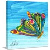 Marmont Hill Rainbow Butterfly Painting Print on Wrapped Canvas