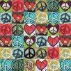 """Marmont Hill """"Peace Collage"""" by Tori Campisi Painting Print on Canvas"""