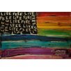 Marmont Hill Live Free Rainbow Flag by Tori Campisi Painting Print