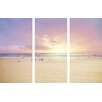 Marmont Hill The Beach Is My Happy Place Painting Print on Wrapped Canvas 3-Piece Set