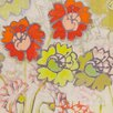 Marmont Hill Two Orange and Green Flowers Painting Print on Wrapped Canvas