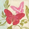 Marmont Hill Fuchsia Butterfly II Graphic Art on Wrapped Canvas
