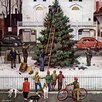 Marmont Hill Tree in Town Square by Stevan Dohanos Painting Print on Wrapped Canvas
