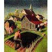 Marmont Hill Spring 1942 by Grant Wood Painting Print on Wrapped Canvas